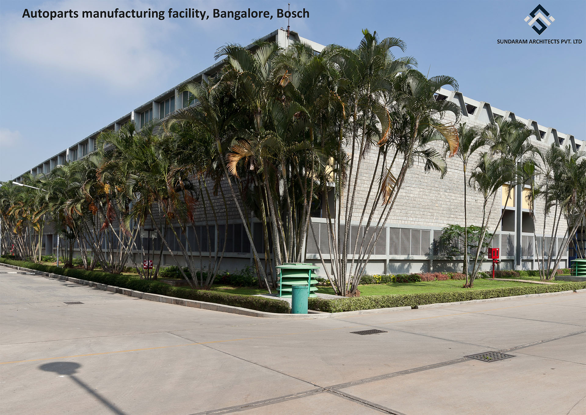 Sundaram Architects designed Autoparts Manufacturing Facility, Bangalore, Bosch