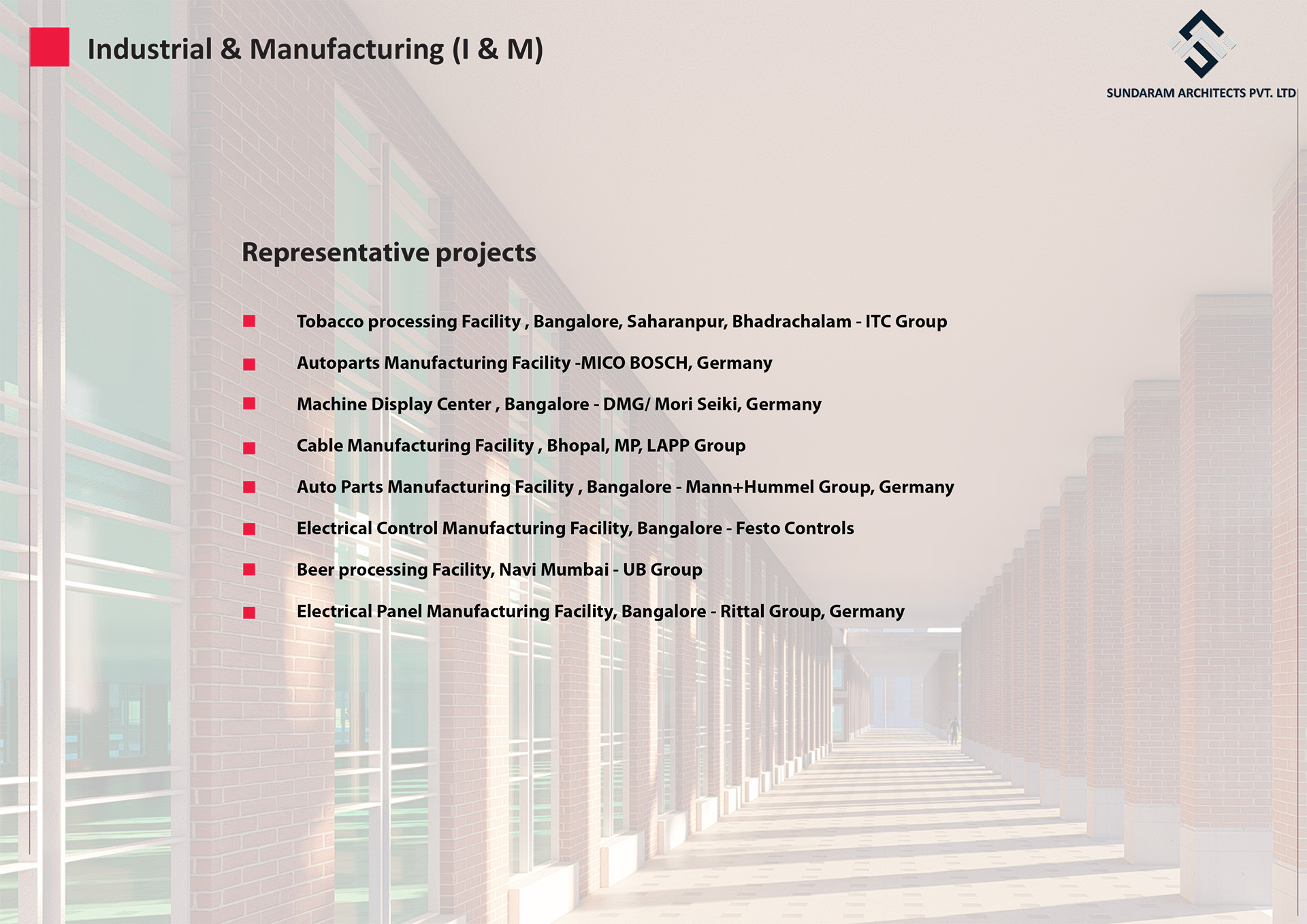 Industrial & Manufacturing projects which are well designed by Sundaram Architects