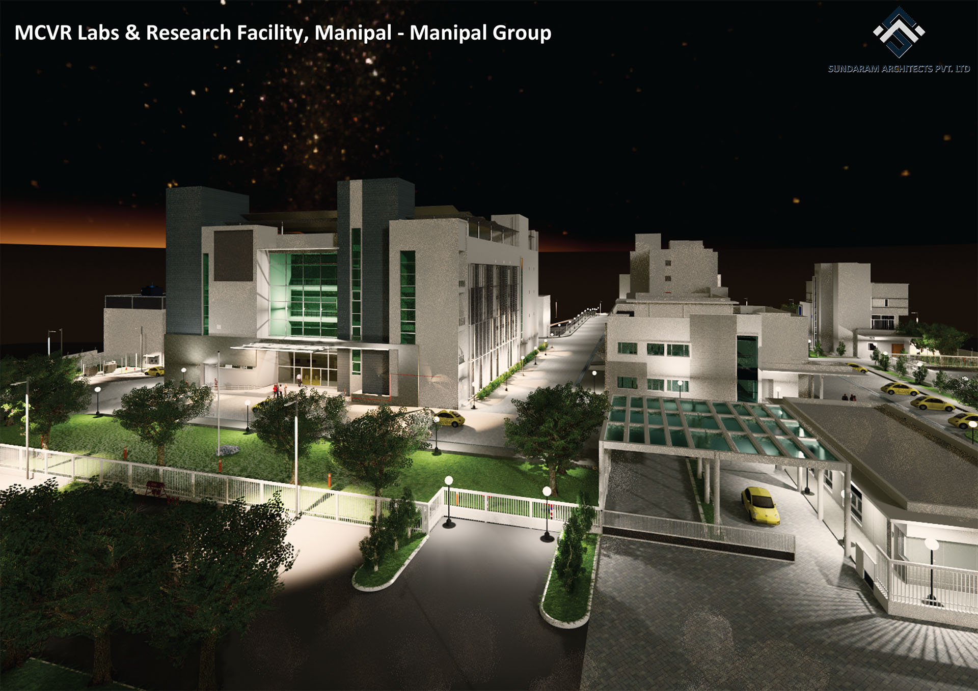 Sundaram Architects designed MCVR Labs & Research Facility, Manipal - Manipal Group