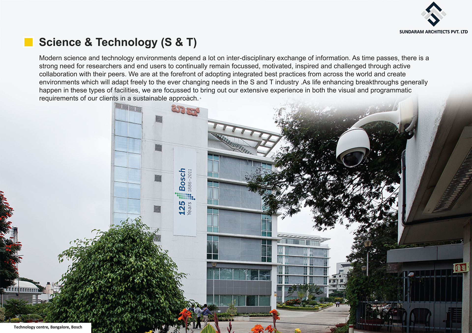 Technology Centre, Bangalore, Bosch - Science & Technology Design - Best Structural Design in India,Bangalore