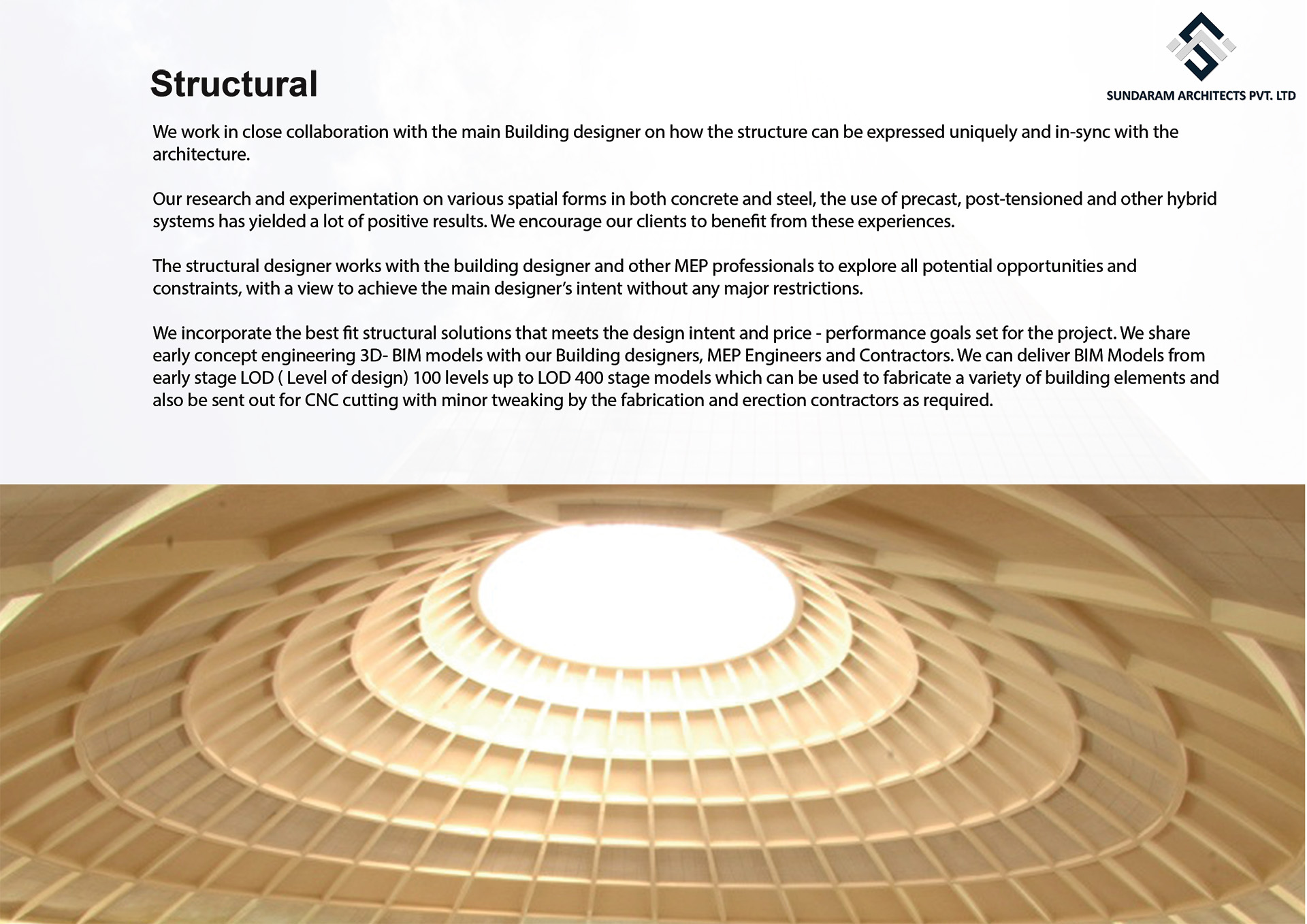 Structural Services for Sundaram Architects - Best Structural Engineering & Structural BIM Consultancy Firm in Bangalore, India